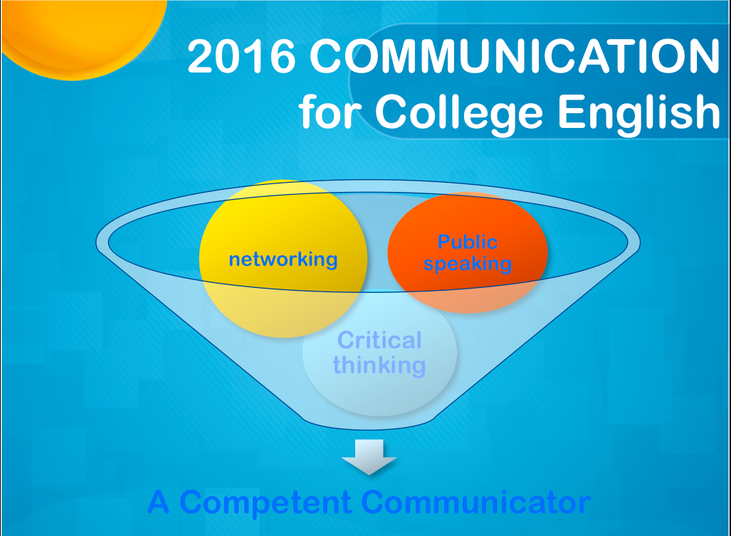 COMMUNICATION for College English  2016